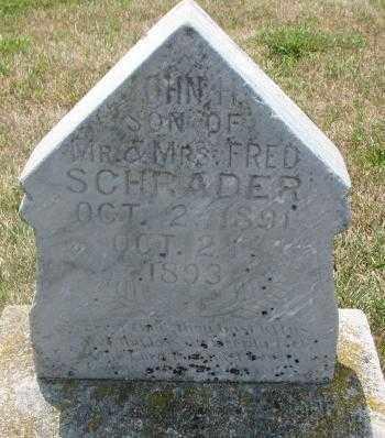 SCHRADER, JOHN H. - Cedar County, Nebraska | JOHN H. SCHRADER - Nebraska Gravestone Photos