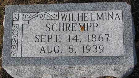 SCHREMPP, WILHELMINA - Cedar County, Nebraska | WILHELMINA SCHREMPP - Nebraska Gravestone Photos