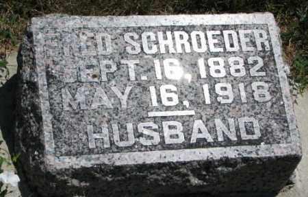 SCHROEDER, FRED - Cedar County, Nebraska   FRED SCHROEDER - Nebraska Gravestone Photos