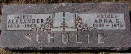 SCHULTE, ANNA C. - Cedar County, Nebraska | ANNA C. SCHULTE - Nebraska Gravestone Photos