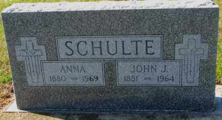 SCHULTE, ANNA - Cedar County, Nebraska | ANNA SCHULTE - Nebraska Gravestone Photos