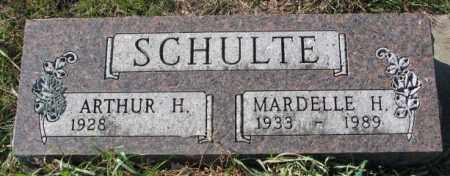 SCHULTE, MARDELLE H. - Cedar County, Nebraska   MARDELLE H. SCHULTE - Nebraska Gravestone Photos