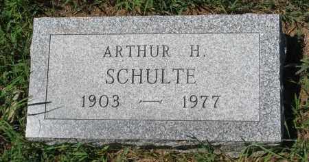 SCHULTE, ARTHUR H. - Cedar County, Nebraska | ARTHUR H. SCHULTE - Nebraska Gravestone Photos