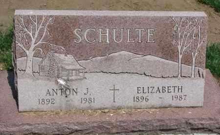 SCHULTE, ANTON J. - Cedar County, Nebraska | ANTON J. SCHULTE - Nebraska Gravestone Photos