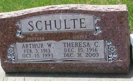SCHULTE, THERESA C. - Cedar County, Nebraska | THERESA C. SCHULTE - Nebraska Gravestone Photos