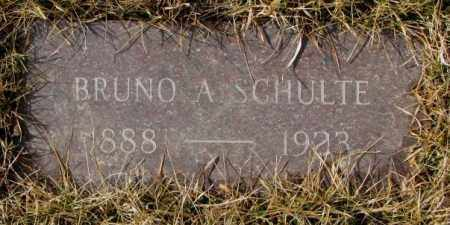 SCHULTE, BRUNO A. - Cedar County, Nebraska | BRUNO A. SCHULTE - Nebraska Gravestone Photos
