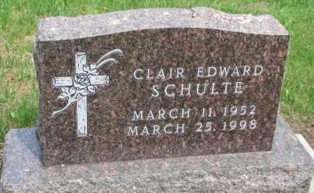 SCHULTE, CLAIR EDWARD - Cedar County, Nebraska | CLAIR EDWARD SCHULTE - Nebraska Gravestone Photos