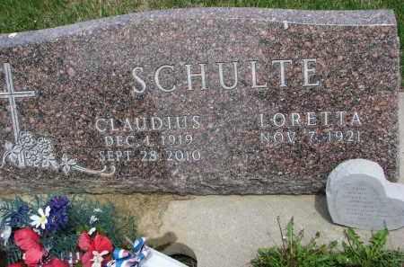 SCHULTE, LORETTA - Cedar County, Nebraska | LORETTA SCHULTE - Nebraska Gravestone Photos