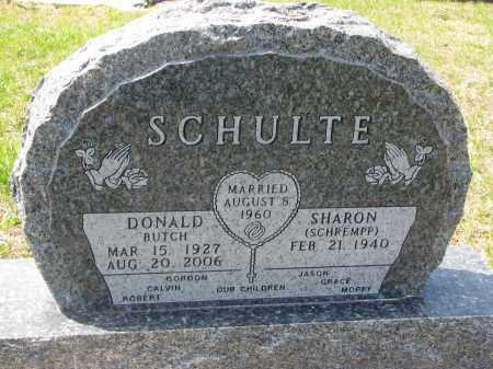 SCHULTE, SHARON - Cedar County, Nebraska | SHARON SCHULTE - Nebraska Gravestone Photos