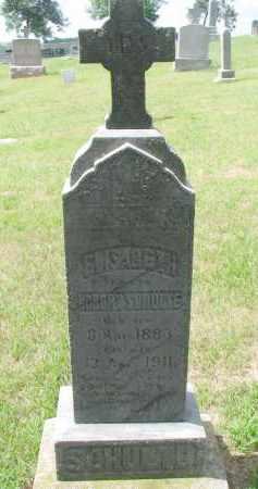 SCHULTE, ELISABETH - Cedar County, Nebraska | ELISABETH SCHULTE - Nebraska Gravestone Photos
