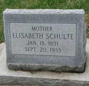 SCHULTE, ELISABETH - Cedar County, Nebraska   ELISABETH SCHULTE - Nebraska Gravestone Photos