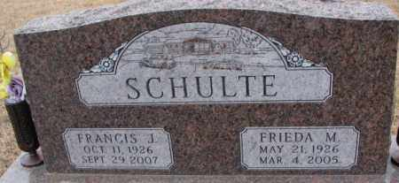 SCHULTE, FRIEDA M. - Cedar County, Nebraska | FRIEDA M. SCHULTE - Nebraska Gravestone Photos