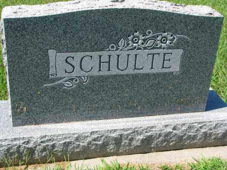 SCHULTE, FAMILY STONE - Cedar County, Nebraska   FAMILY STONE SCHULTE - Nebraska Gravestone Photos