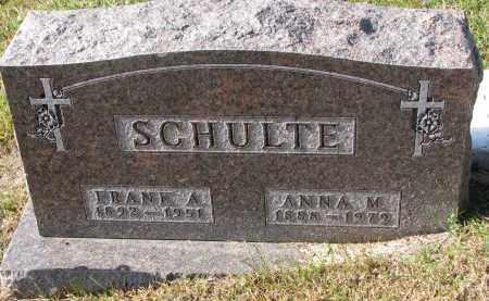 SCHULTE, FRANK A. - Cedar County, Nebraska   FRANK A. SCHULTE - Nebraska Gravestone Photos