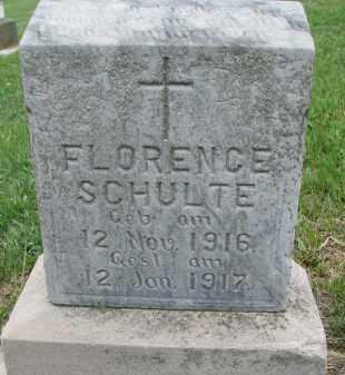 SCHULTE, FLORENCE - Cedar County, Nebraska   FLORENCE SCHULTE - Nebraska Gravestone Photos