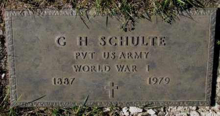 SCHULTE, G.H. (WW I) - Cedar County, Nebraska   G.H. (WW I) SCHULTE - Nebraska Gravestone Photos