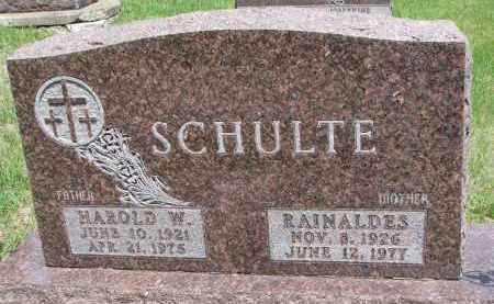 SCHULTE, HAROLD W. - Cedar County, Nebraska   HAROLD W. SCHULTE - Nebraska Gravestone Photos