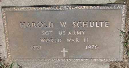 SCHULTE, HAROLD W. (WW II) - Cedar County, Nebraska | HAROLD W. (WW II) SCHULTE - Nebraska Gravestone Photos