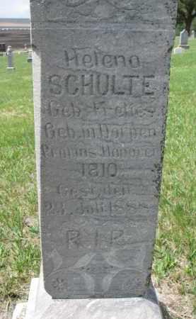 SCHULTE, HELENA - Cedar County, Nebraska   HELENA SCHULTE - Nebraska Gravestone Photos