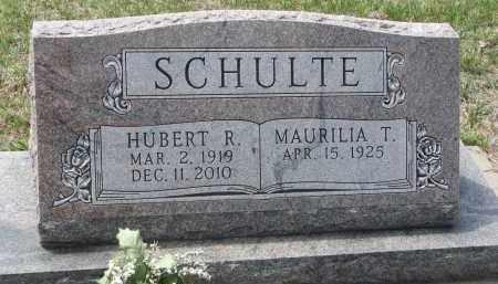 SCHULTE, MAURILIA T. - Cedar County, Nebraska | MAURILIA T. SCHULTE - Nebraska Gravestone Photos