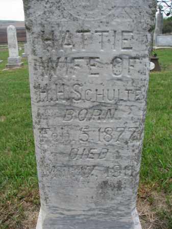 SCHULTE, HATTIE (CLOSEUP) - Cedar County, Nebraska | HATTIE (CLOSEUP) SCHULTE - Nebraska Gravestone Photos