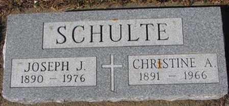 SCHULTE, CHRISTINE A. - Cedar County, Nebraska | CHRISTINE A. SCHULTE - Nebraska Gravestone Photos