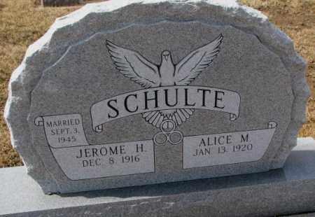 SCHULTE, JEROME H. - Cedar County, Nebraska | JEROME H. SCHULTE - Nebraska Gravestone Photos