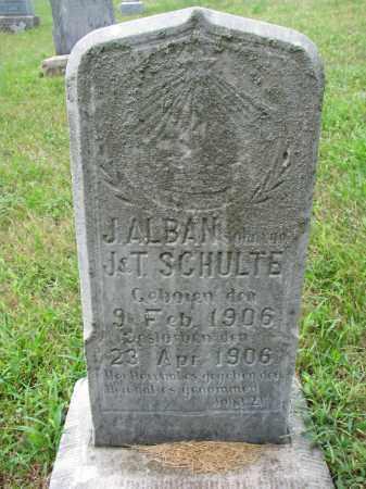 SCHULTE, J. ALBAN - Cedar County, Nebraska   J. ALBAN SCHULTE - Nebraska Gravestone Photos