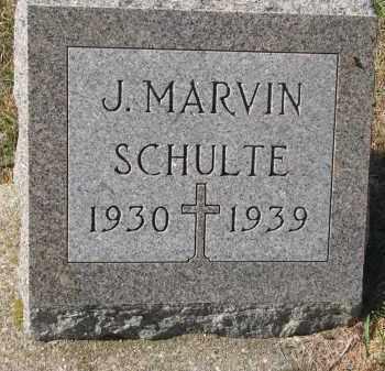 SCHULTE, J. MARVIN - Cedar County, Nebraska | J. MARVIN SCHULTE - Nebraska Gravestone Photos