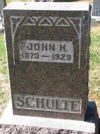 SCHULTE, JOHN H. - Cedar County, Nebraska | JOHN H. SCHULTE - Nebraska Gravestone Photos