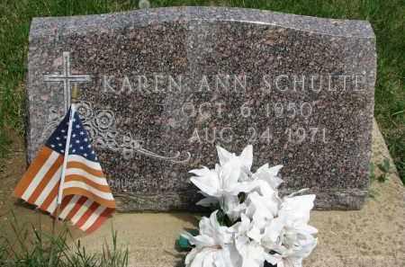 SCHULTE, KAREN ANN - Cedar County, Nebraska | KAREN ANN SCHULTE - Nebraska Gravestone Photos