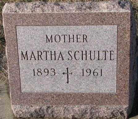 SCHULTE, MARTHA - Cedar County, Nebraska   MARTHA SCHULTE - Nebraska Gravestone Photos