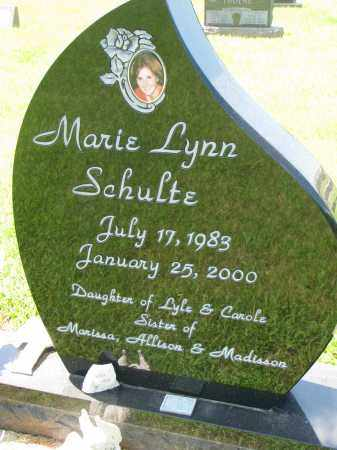 SCHULTE, MARIE LYNN - Cedar County, Nebraska   MARIE LYNN SCHULTE - Nebraska Gravestone Photos
