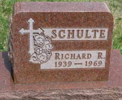 SCHULTE, RICHARD R. - Cedar County, Nebraska   RICHARD R. SCHULTE - Nebraska Gravestone Photos