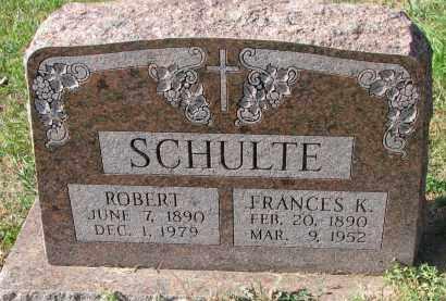 SCHULTE, FRANCES K. - Cedar County, Nebraska | FRANCES K. SCHULTE - Nebraska Gravestone Photos