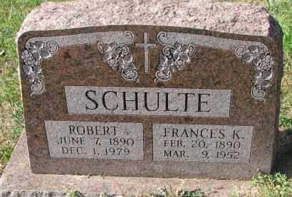 SCHULTE, ROBERT - Cedar County, Nebraska   ROBERT SCHULTE - Nebraska Gravestone Photos
