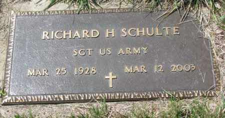 SCHULTE, RICHARD H. - Cedar County, Nebraska | RICHARD H. SCHULTE - Nebraska Gravestone Photos