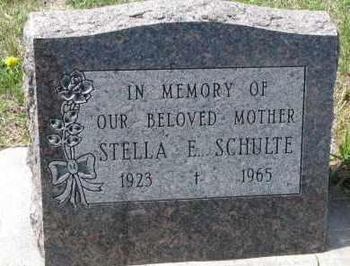 SCHULTE, STELLA E. - Cedar County, Nebraska   STELLA E. SCHULTE - Nebraska Gravestone Photos