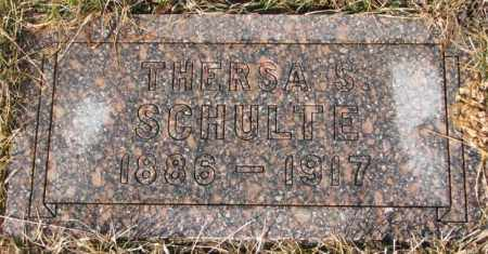 SCHULTE, THERSA S. - Cedar County, Nebraska | THERSA S. SCHULTE - Nebraska Gravestone Photos