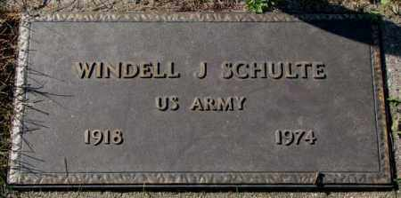 SCHULTE, WINDELL J. (MILITARY) - Cedar County, Nebraska | WINDELL J. (MILITARY) SCHULTE - Nebraska Gravestone Photos