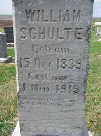SCHULTE, WILLIAM (CLOSEUP) - Cedar County, Nebraska | WILLIAM (CLOSEUP) SCHULTE - Nebraska Gravestone Photos