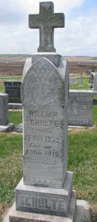 SCHULTE, WILLIAM - Cedar County, Nebraska | WILLIAM SCHULTE - Nebraska Gravestone Photos