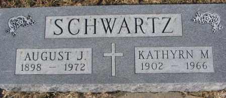 SCHWARTZ, AUGUST J. - Cedar County, Nebraska   AUGUST J. SCHWARTZ - Nebraska Gravestone Photos