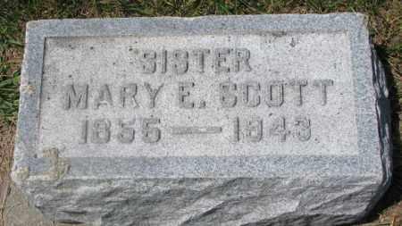 SCOTT, MARY E. - Cedar County, Nebraska | MARY E. SCOTT - Nebraska Gravestone Photos