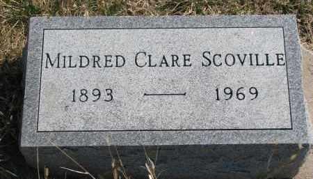 SCOVILLE, MILDRED CLARE - Cedar County, Nebraska   MILDRED CLARE SCOVILLE - Nebraska Gravestone Photos
