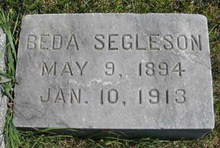 SEGLESON, BEDA - Cedar County, Nebraska | BEDA SEGLESON - Nebraska Gravestone Photos