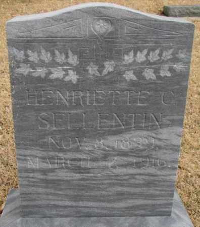 SELLENTIN, HENRIETTE C. - Cedar County, Nebraska   HENRIETTE C. SELLENTIN - Nebraska Gravestone Photos