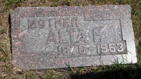 SELLON, ALTA F. - Cedar County, Nebraska | ALTA F. SELLON - Nebraska Gravestone Photos