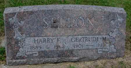 SELLON, GERTRUDE M. - Cedar County, Nebraska | GERTRUDE M. SELLON - Nebraska Gravestone Photos