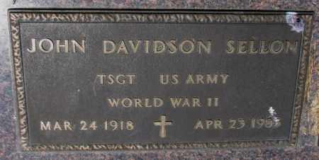 SELLON, JOHN DAVIDSON (WW II) - Cedar County, Nebraska   JOHN DAVIDSON (WW II) SELLON - Nebraska Gravestone Photos